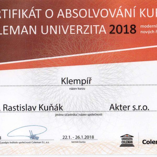 Klampiarske práce - certifikát | KEISH